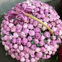 Корзина 101 розовый пионов R952