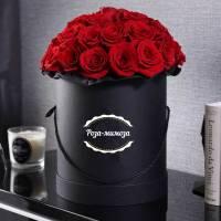 Черная коробка 35 красных роз R150